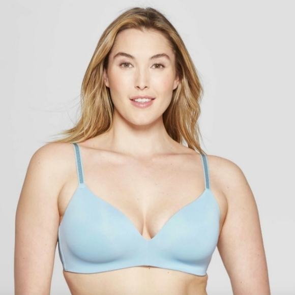 Auden Other - Auden Bliss Lightly Lined Blue Wire Free Bra